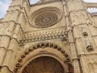 Close up of the Cathedral of Santa Maria of Palma. This Cathedral was also built in the Gothic style