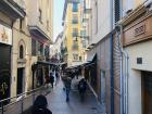 The narrow streets in the old part of town are mostly pedestrian streets