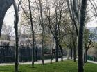 Pamplona has lots of parks with walking paths and benches, making it a very pedestrian city