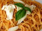 """Maripaz's favorite food is pasta; photo credit: """"Roasted Tomato Pesto"""" by my_amii is licensed under CC BY-NC 2.0"""