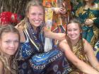 In Madagascar, I wore a traditional lamba and had seven braids on my head to honor my ancestors
