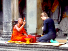 In Angkor Wat, Cambodia, I was blessed by a Buddhist monk