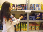 Before we start distributing, we restock the shelves!