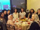 Surrounded by a Moroccan family that invited me to a ftour