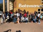 This was the first picture our classroom took when we arrived to Botswana.