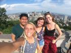 Montreal is named after Mount Royal, the little mountain in the middle of the city, and here's a picture taken with friends at the top!