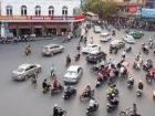 Intersections in major cities look like this at any given part of the day. This particular photo is from Hanoi.