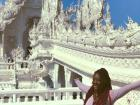 Wat Rong Khun, the white temple in Chiang Rai, Thailand, is beautiful