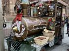 Roasted water chestnuts are very popular during Christmas Markets and were sold in these stalls that looked like trains!