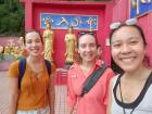 After walking up many steps, we made it to the shrines at the top of the monastery