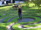 At the center of the labyrinth in Cork, Ireland