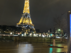 The Eiffel Tower at night; it lights up every hour for a few minutes