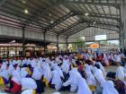 All 1,500 students gather for assembly every morning (Malacca, Malaysia)