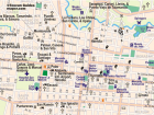Map of the bus routes in San Jose