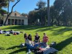 A picnic at the grounds of Villa Borghese