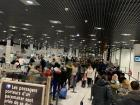 Last photo in France: the security line at Nice airport on Christmas Eve