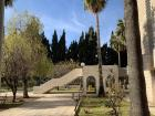 An area on University of Jordan campus where many students sit and enjoy lunch!