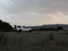 The truck parked in the morning on the field. We're ready to start observing, and hopefully get some captures