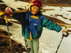 Walking up to a ski race in the Scottish mountains when I was a kid