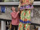 This clown I met in India was very tall!