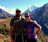 Josh and I hiking in the mountains of Nepal—one of our favorite places on earth